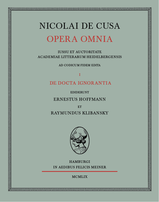Opera Omnia Nikolaus von Kues